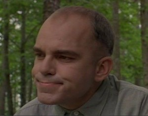 "Actor Billy Bob Thornton as he portrayed the character Karl Childers in the 1996 movie ""Sling Blade."""
